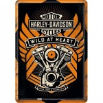 Harley Davidson Wild at Heart small metal plate