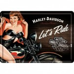 Harley Davidson Let's Ride small metal plate