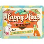 Happy Hour metal plate 20 x 15 cm