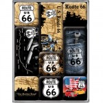 Route 66 Motor Small steel fridge magnets