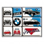 BMW Vintage Cars Small steel fridge magnets