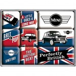 Austin Mini Cooper - Box of 9 mini-magnets enamelled