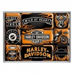 Harley Davidson set of 9 magnets