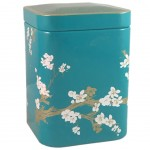Cherry blossoms turquoise Tea Box