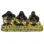 Decoration Three Buddhas - The secret of happiness 5.5 cm