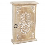 Wooden key cabinet Hand of Fatma