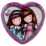 Gorjuss Heart Shaped Tin - We Walk Together