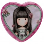 Gorjuss Heart Shaped Tin - Rosebud