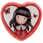 Gorjuss Heart Shaped Tin - Time to Fly