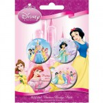 Disney Princess 4 badges set