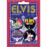 Elvis 4 badges set