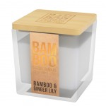 Eco-responsible bamboo ginger candle - heart and home
