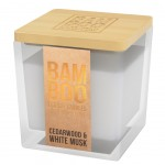 Eco-responsible White musk candle - heart and home