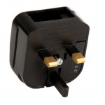 France to Great Britain Adapter - Black