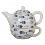 Fishes Set cup and teapot