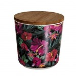 Bamboo pot - Exotic spirit - Tropical flowers