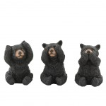 Decorative statuettes - Bear - Brown - Say nothing - Hear nothin
