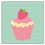 Set of 4 square coasters Cupcakes by Cbkreation