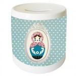 Starry Russian doll money box by Cbkreation