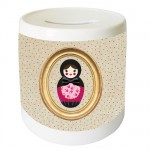 Peas Russian doll money box by Cbkreation