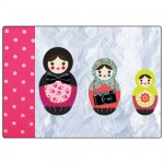 3 Russian dolls mouse pad by Cbkreation