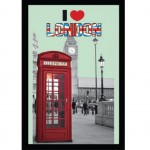 I Love London Rectangular Mirror