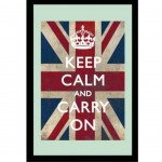 Keep Calm and Carry On Rectangular Mirror