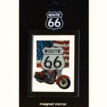 Route 66 Mini Magnet Mirror