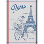 Rectangular kitchen towel in cotton Paris