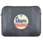 Vespa black computer bag