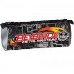 Beyblade black round pencil case