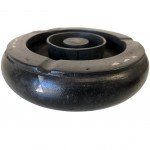 Black wood craft ashtray with mother of pearl inclusions