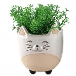 Flower pot - Summer Collection - White cat