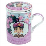 Frida Mug with Pink and Blue Infuser