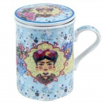 Frida mug with infuser - Blue