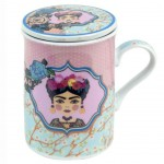 Frida Mug with Infuser - Pink and Blue