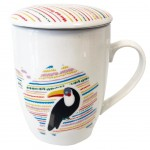Mug with infuser filter - Toucan