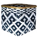 Bamboo basket Black and White 22 cm