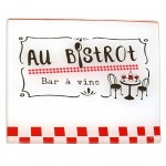 Glass trivet AU BISTROT - White