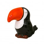 TOUCAN Money Box 12 cm - Black