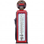 Deco Thermometer Gas Pump 47 cm - Red