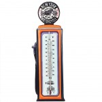 Deco Thermometer Gas Pump 47 cm - Orange