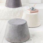 Pouf covered with Grey velvet 31.5 x 34 x 46.5 cm