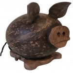 Piggy bank pig in coconut