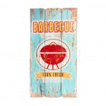 Barbecue wooden wall decoration to hang