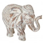 Great patina white elephant statuette 30 cm