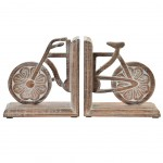 Bookend Wood - Bicycle