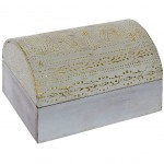 Elephants wood jewelry box 15 cm