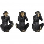 3 Monkey Figurines Seeing nothing, saying and hearing