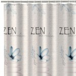 Zen shower curtain 180 x 200 cm
